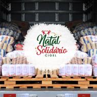 """Campanha """"Natal Solidário Cigel"""" arrecada mais de 1 tonelada de alimentos para doações"""